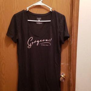 Large Victoria Secret V neck T shirt.